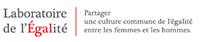 logo du laboratoire de l'égalité, rectangulaire, noir et rouge
