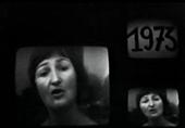 Visage sur 2 écrans de Monique, ouvrière  en grève à LIP