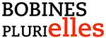 logo bobine féministes, noir et rouge