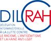 logo DILCRAH lettres bleues et rouge
