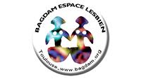 Logo du Bagdam dans un cercle deux femmes stylisées