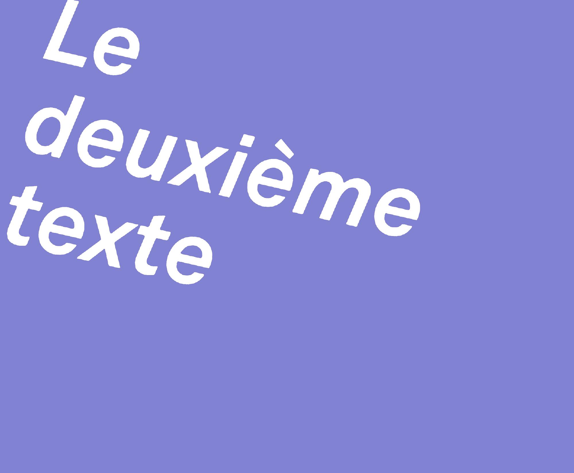 Logo Le deuxième texte en blanc sur un rectangle violet